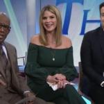 Jenna Bush Hager's Green Off The Shoulder Top