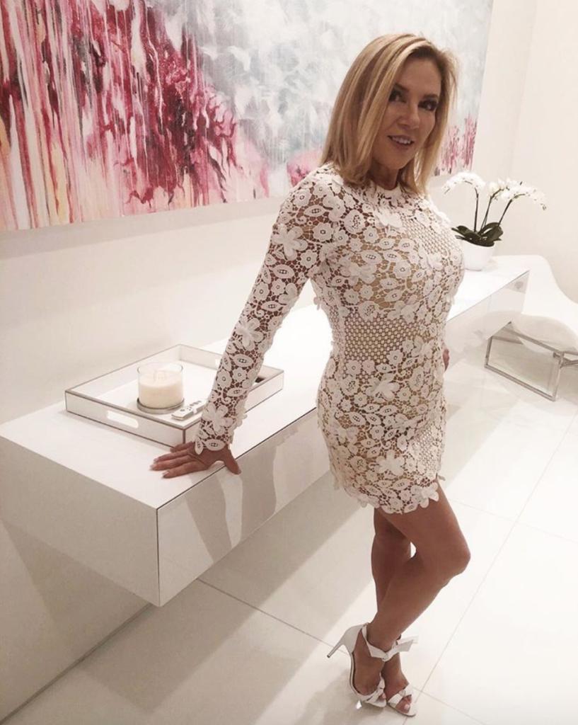 Ramona Singer's White Lace Dress