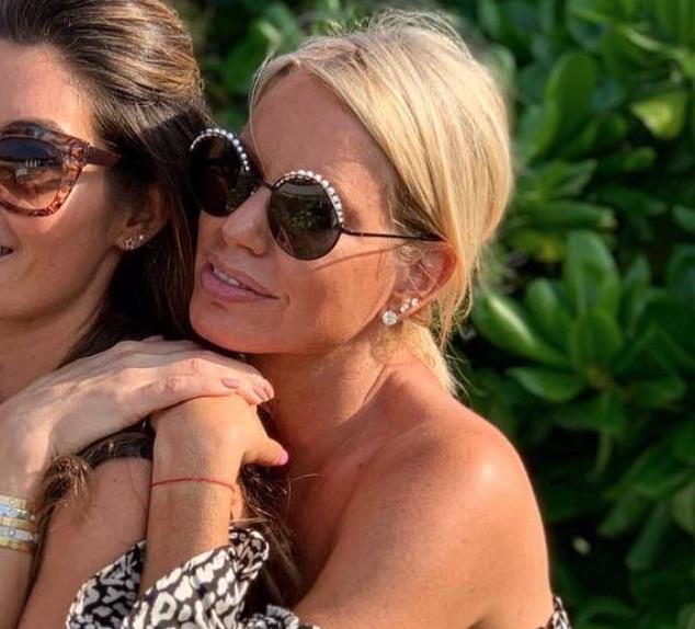 Caroline Stanbury's Round Pearl Embellished Sunglasses
