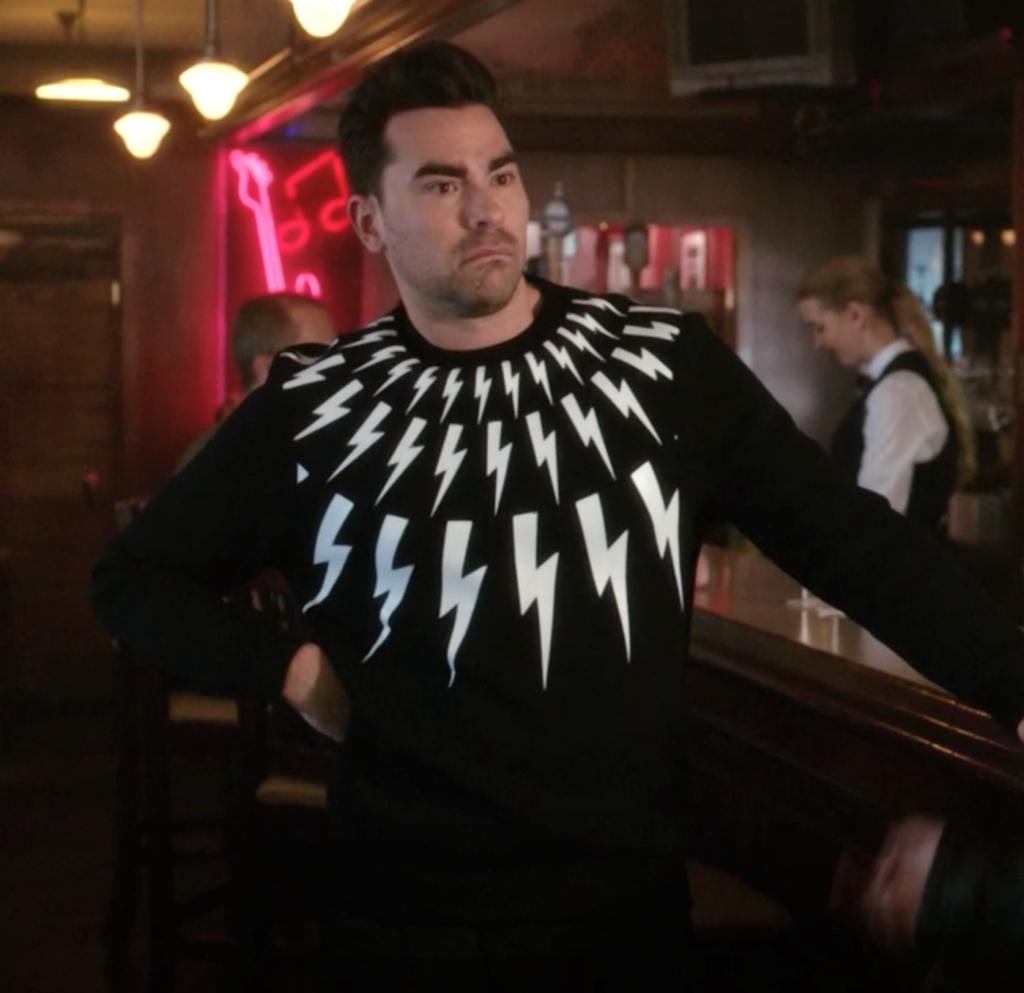 David Rose's Lightning Bolt Sweatshirt