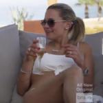 Jackie Goldschneider's White Tie Front Bikini in Mexico