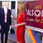 Jill Martin's Red Side Striped Dress
