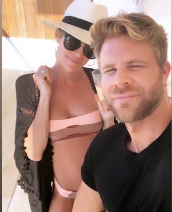 Kristin Cavallari's Color Block Striped Bikini