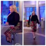 Meghan McCain's Leopard Print Skirt and Black Blouse