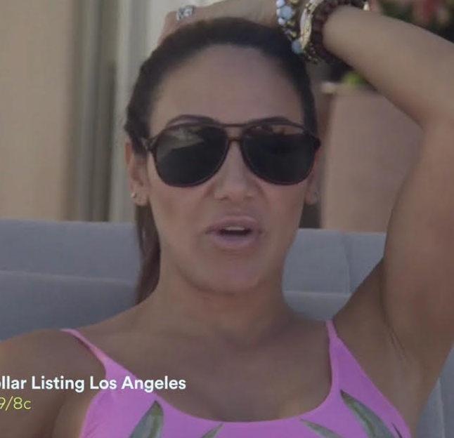 Melissa Gorga's Black Aviator Sunglasses