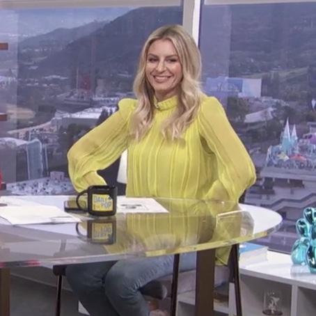 Morgan Stewart's Yellow Blouse