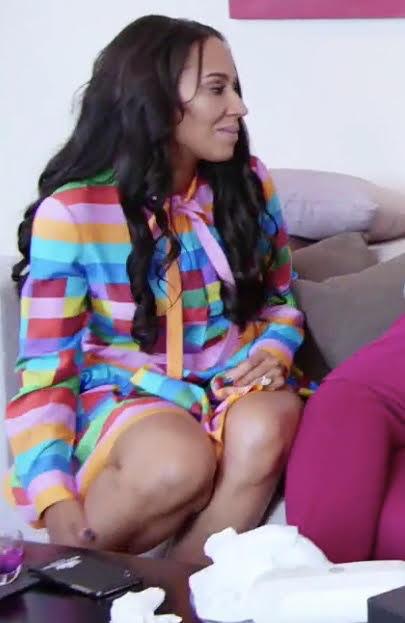 Tanya Sam's Rainbow Striped Dress