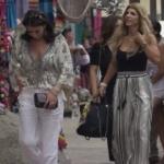 Teresa Giudice's Striped Pants in Mexico