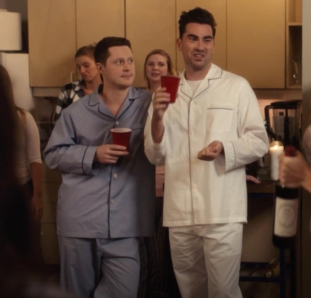 David Rose's White Pajamas