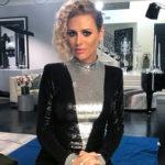Dorit Kemsley's Black and Silver Sequin Dress
