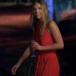 Hannah Brown's Red Grommet Maxi Dress