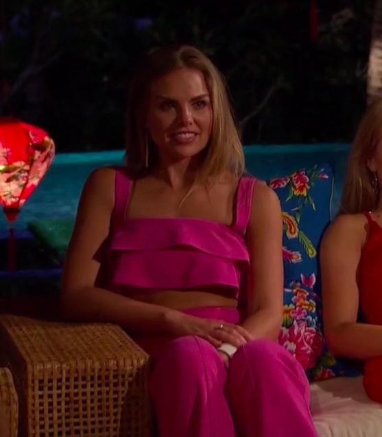 Hannah B's Pink Ruffle Top and Pants