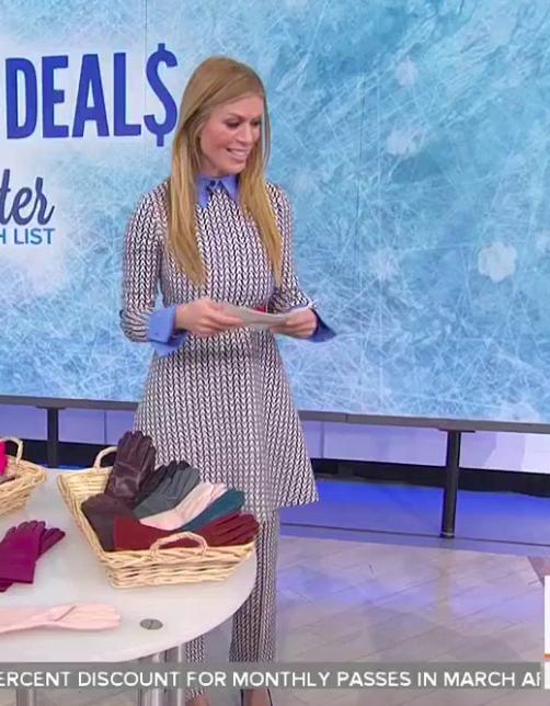 Jill Martin's V Print Dress and Pants