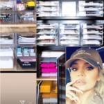 Khloe Kardashian's Office Organization On Instagram Stories