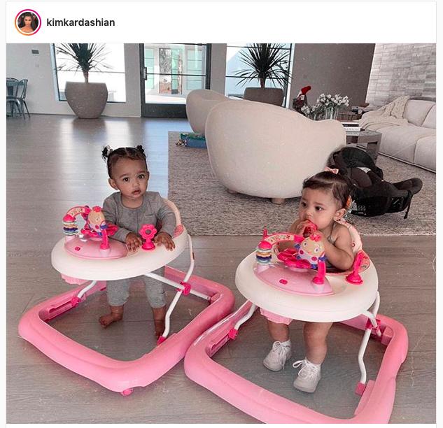 Kim Kardashian West's Pink Baby Walkers On Instagram