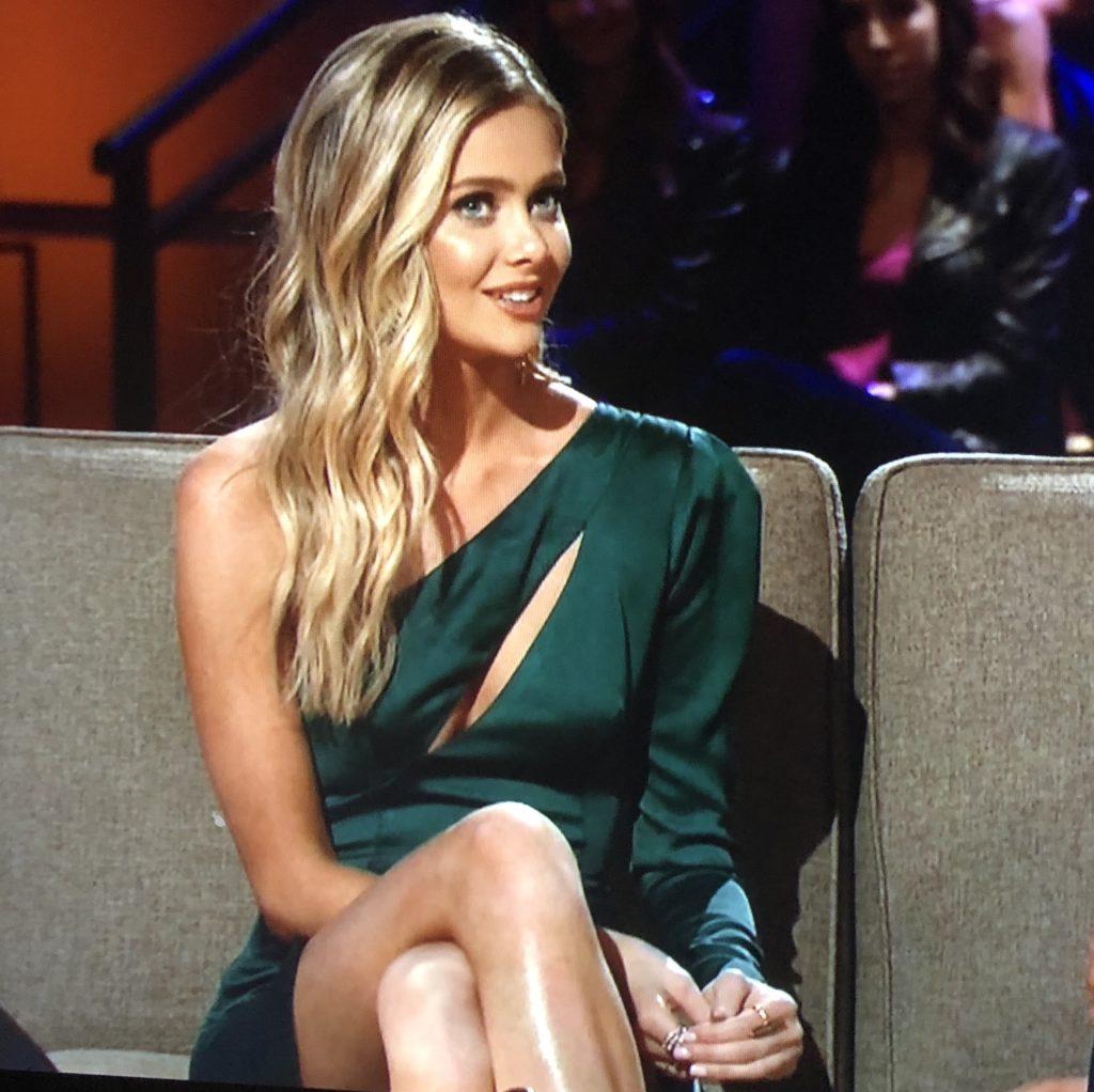 Hannah Godwin's Green Cutout Dress