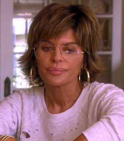 Lisa Rinna's Clear Aviator Glasses