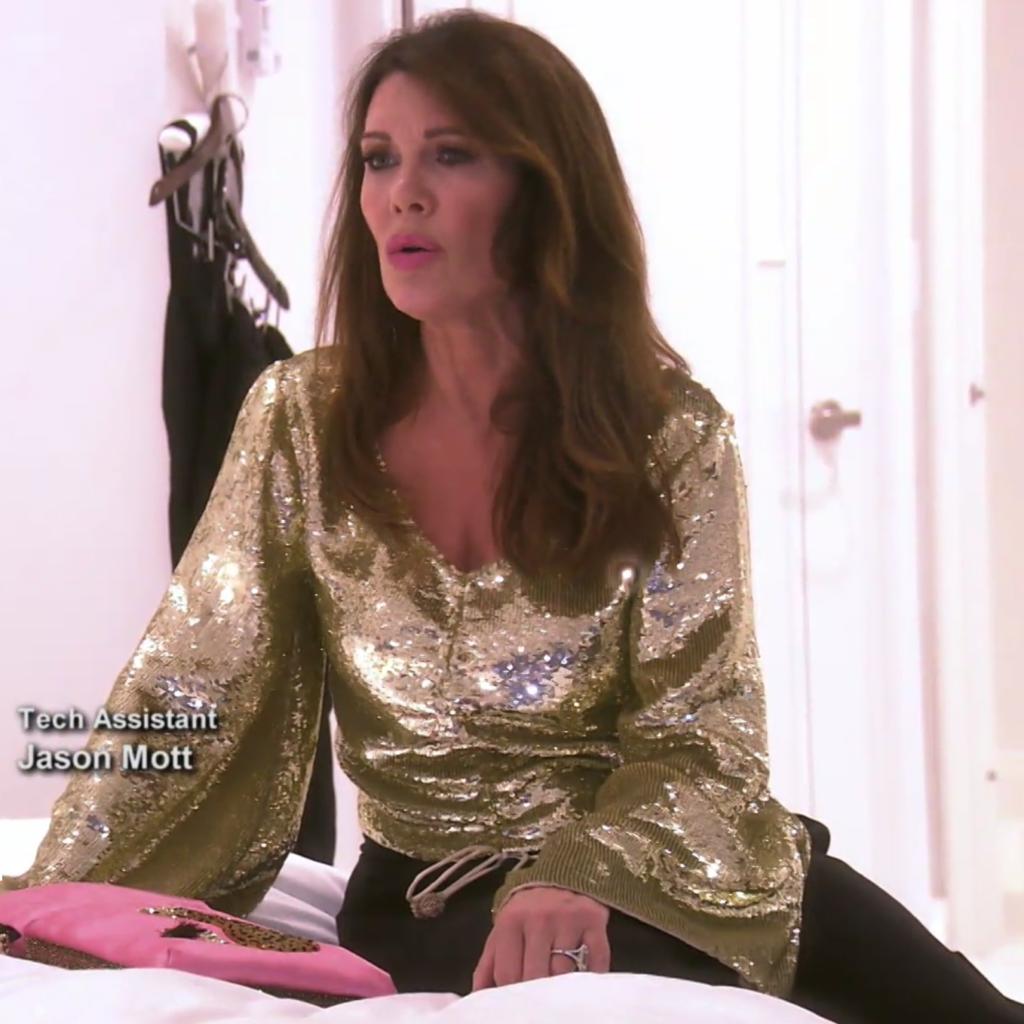 Lisa Vanderpump's Gold Sequin Top