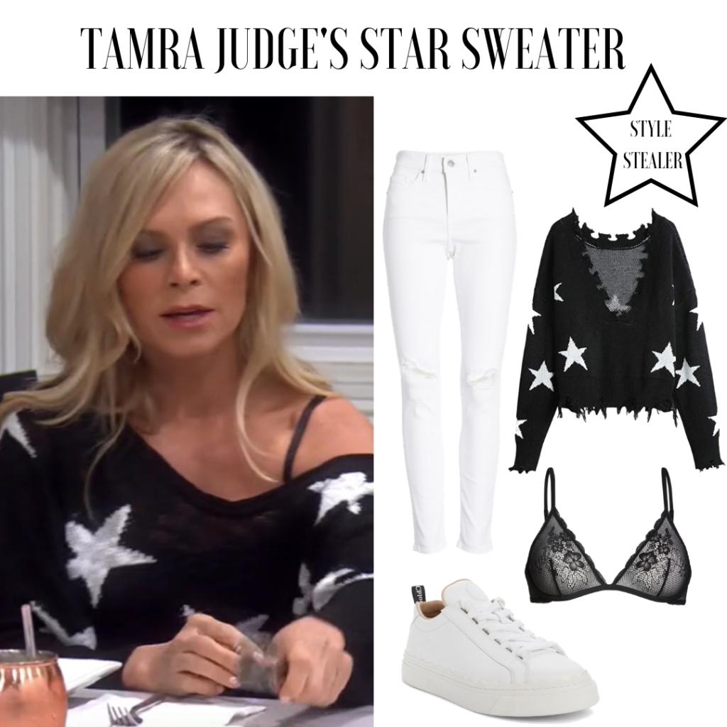 Tamra-Judges-Black-Star-Sweater