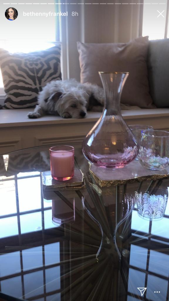 Bethenny Frankel's Pink and Gold Carafe On Instagram
