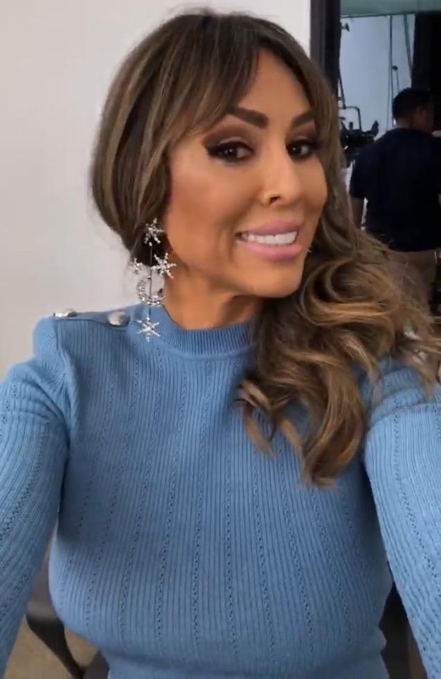 Kelly Dodd's Light Blue Dress