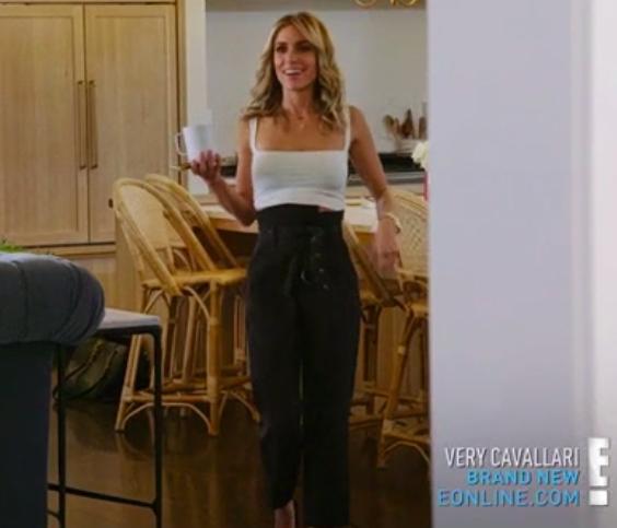 Kristin Cavallaris Black High Waisted Pants