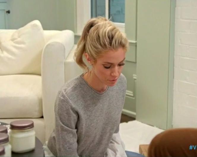Kristin Cavallaris Grey Layered Sweater