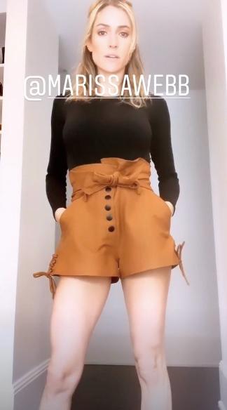 Kristin Cavallari's Tan Tie Shorts