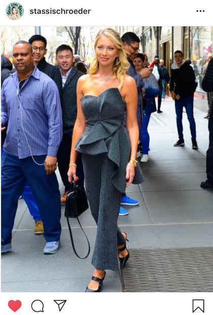 Stassi Schroeder's Metallic Ruffle Top and Pants