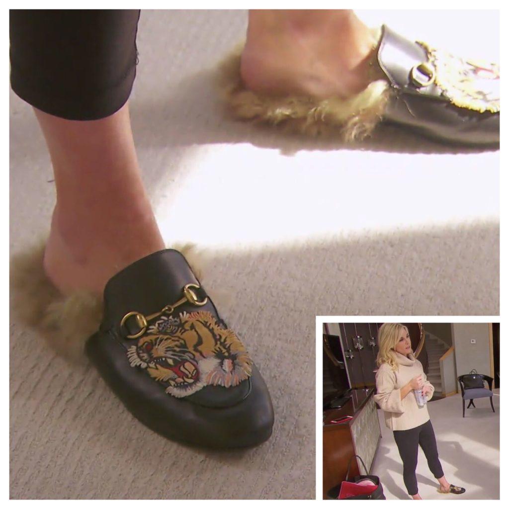 Tinsley Mortimer's Fur Tiger Shoes