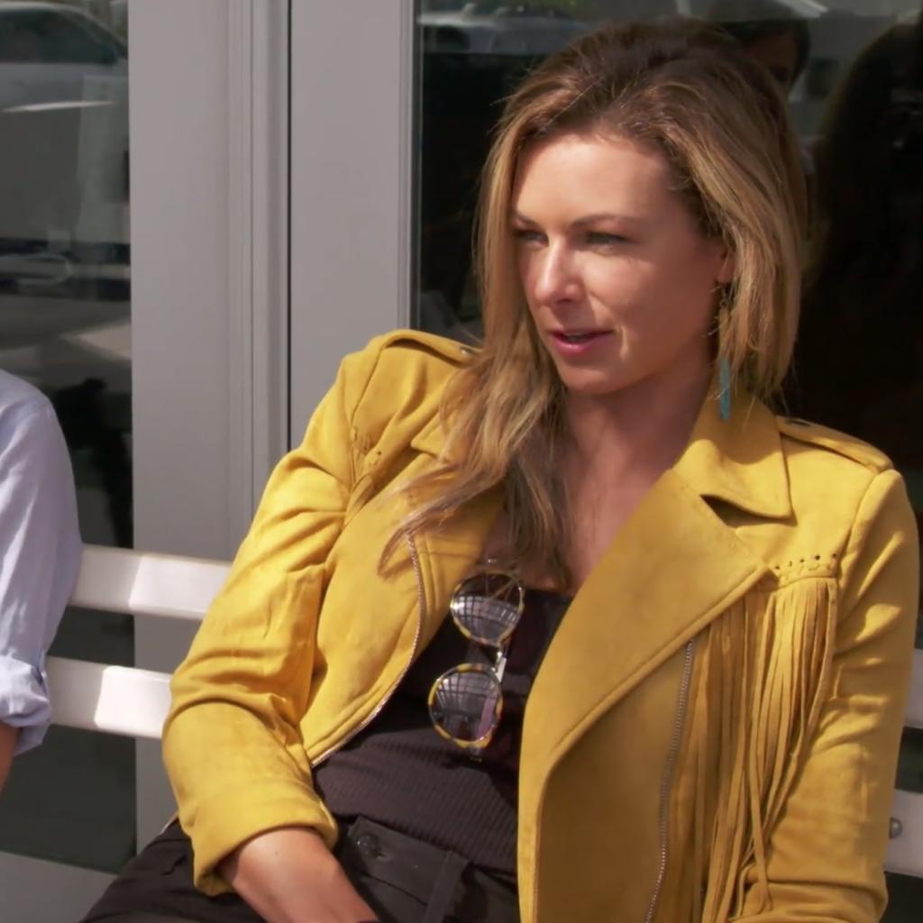 Chelsea Meissner's Yellow Suede Fringe Jacket