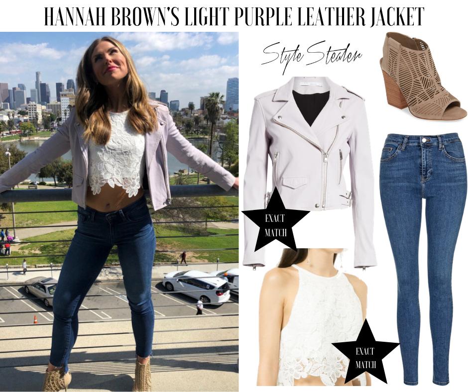 Hannah Brown's Light Purple Leather Jacket
