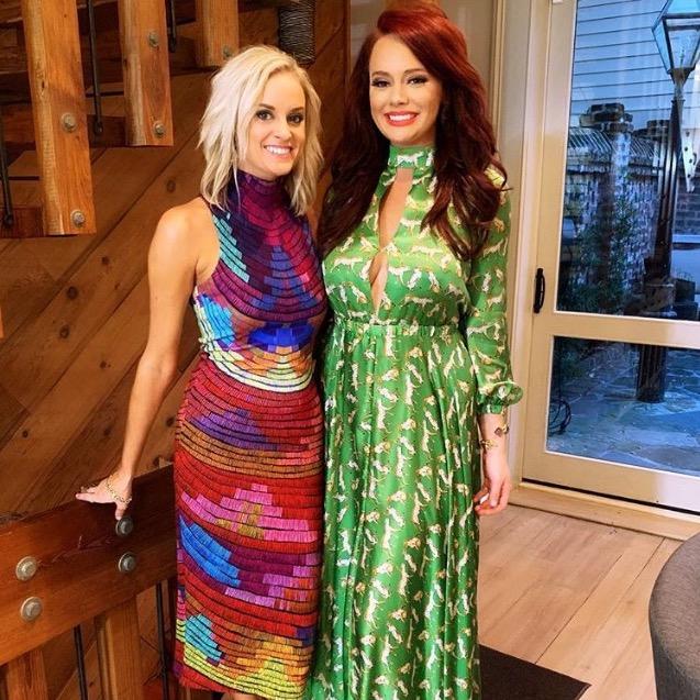 Kathryn Dennis' Green Cheetah Print Dress
