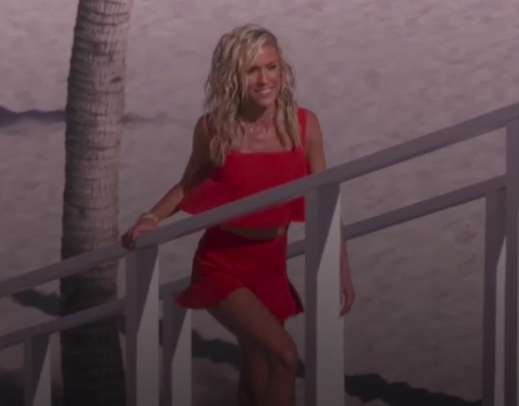 Kristin Cavallaris Red Ruffle Crop Top and Shorts