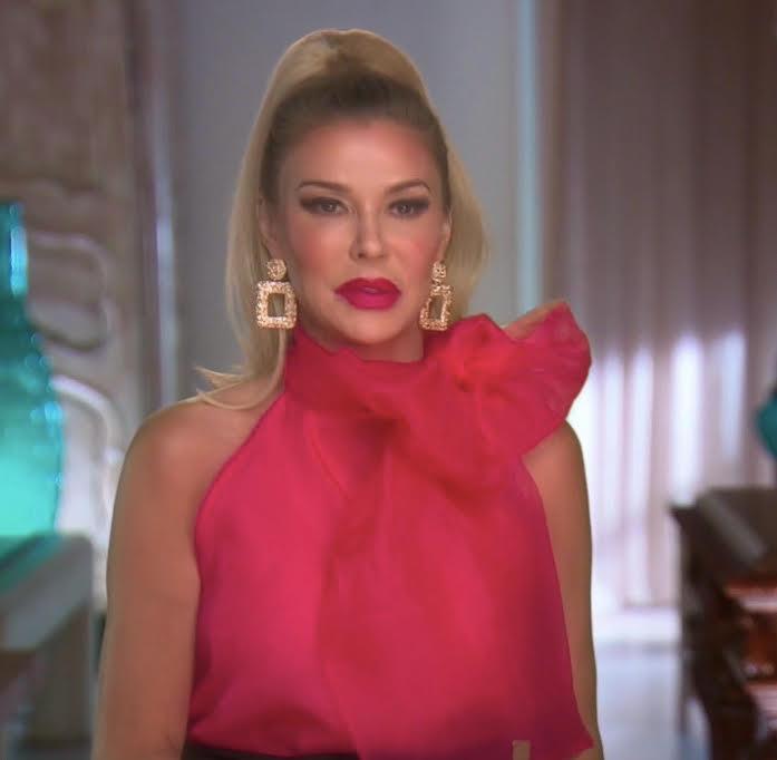 Brandi Glanville's Pink Bow Blouse