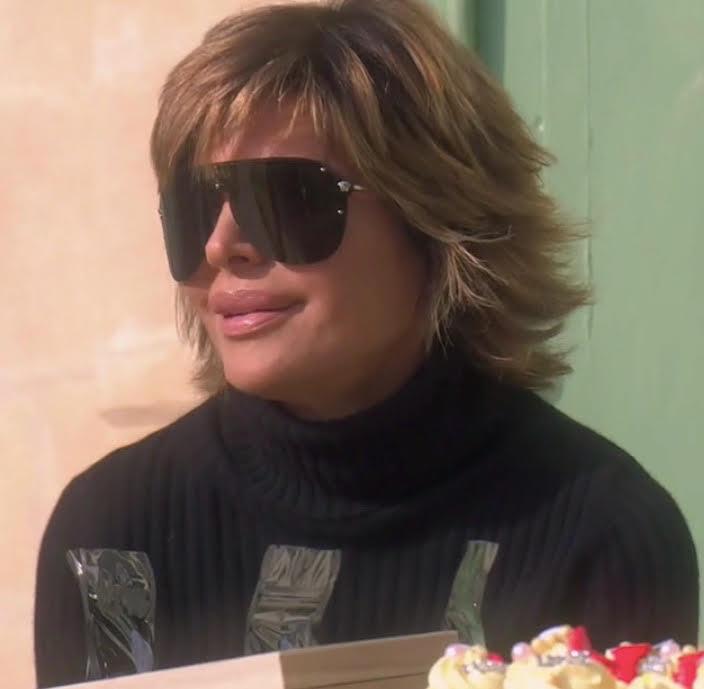 Lisa Rinna's Shield Sunglasses