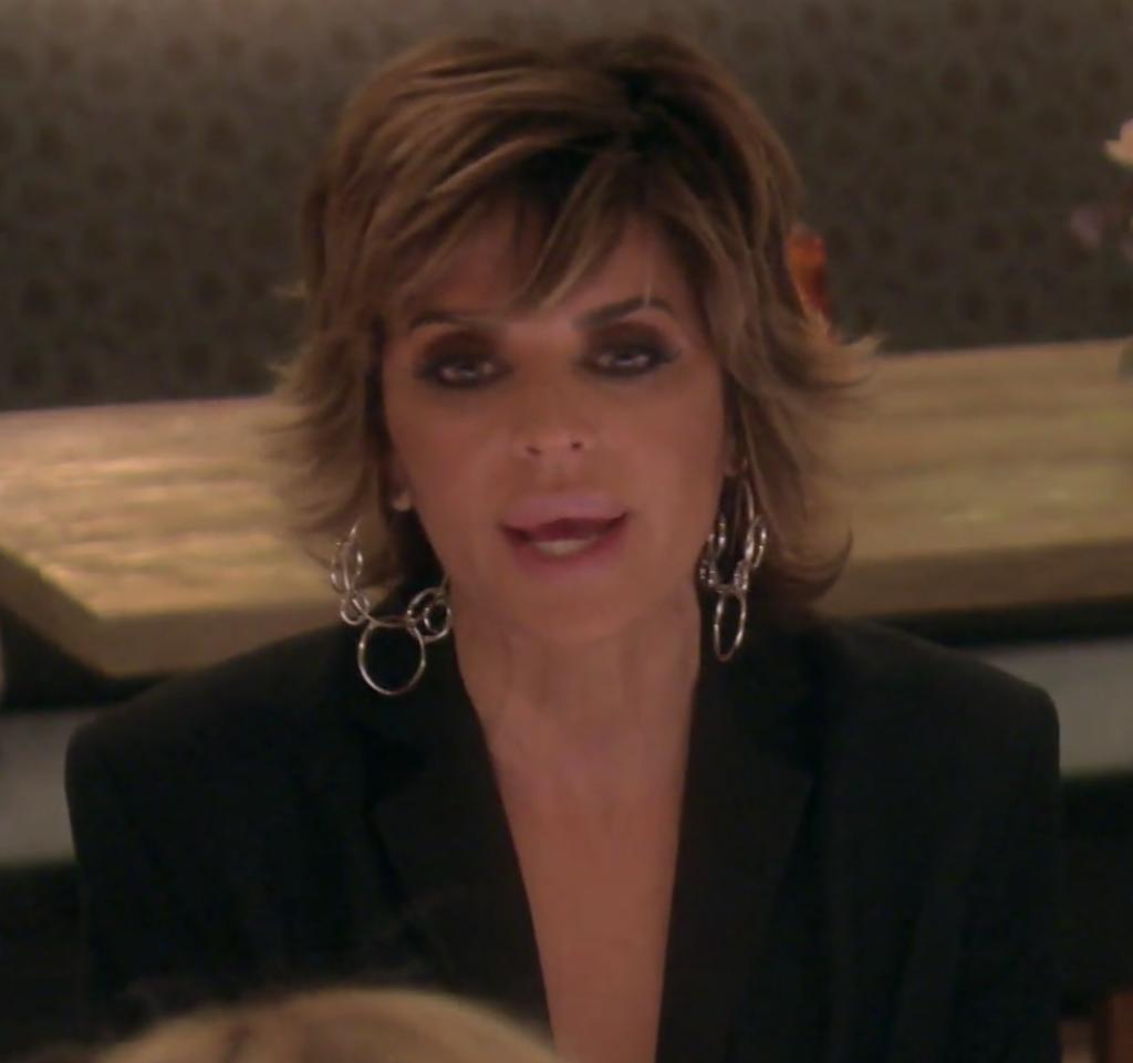 Lisa Rinna's Silver Multi Hoop Earrings