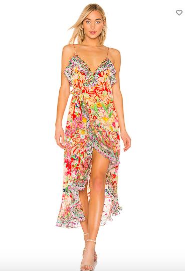 Bethenny Frankel's Printed Ruffle Dress