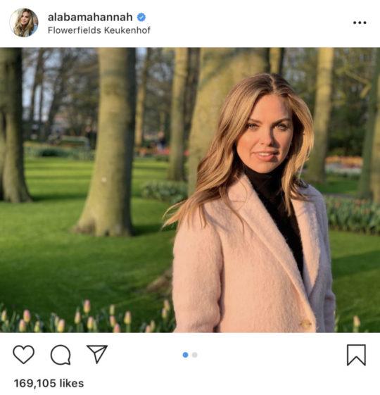 Hannah Brown's Pink Fur Coat