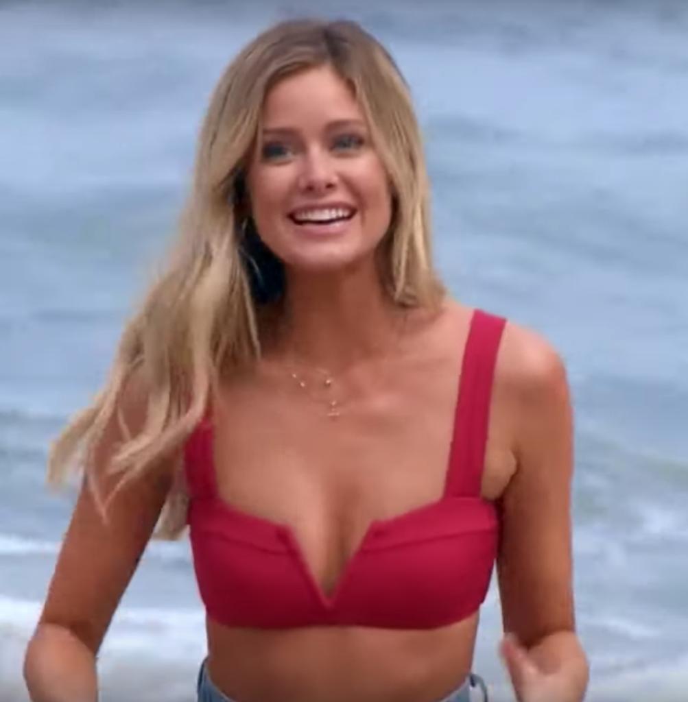 Hannah Godwin's Red Bikini Top