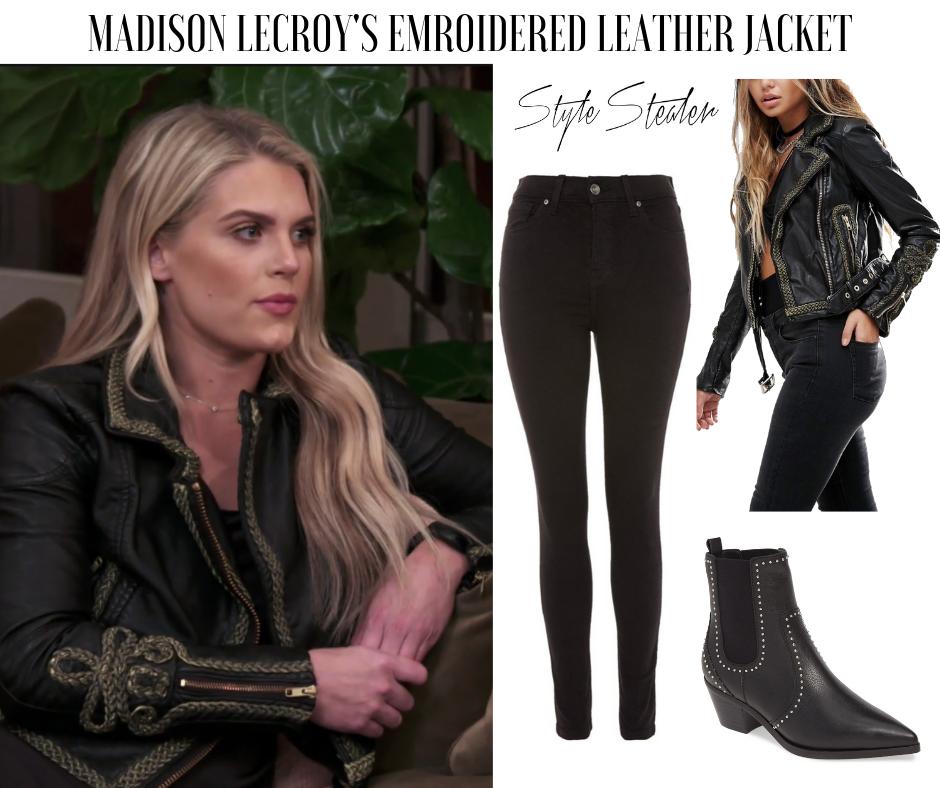 Madison LeCroys Leather Jacket