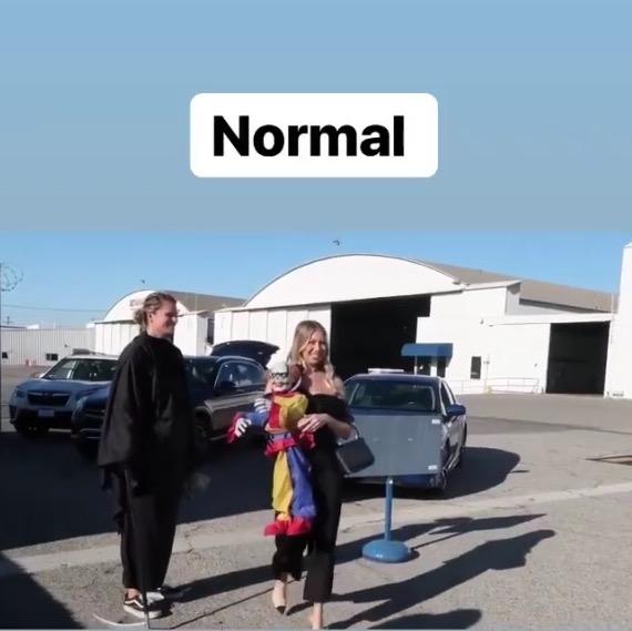 Stassi Schroeder's Black Asymmetrical Jumpsuit