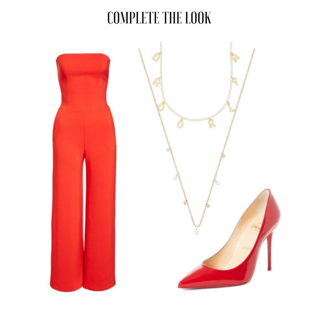 Tamra Judge's Red Strapless Jumpsuit