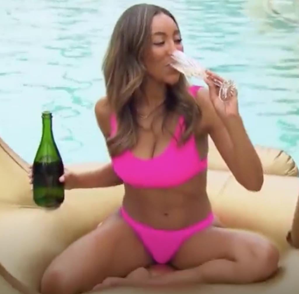 Tayshia Adams' Hot Pink Bikini