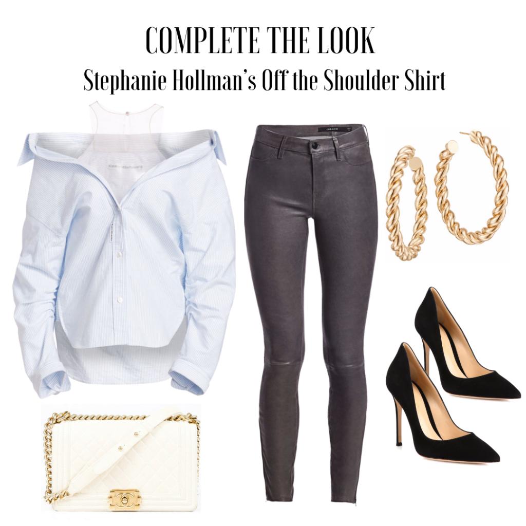 Stephanie Hollman's Off the Shoulder Shirt