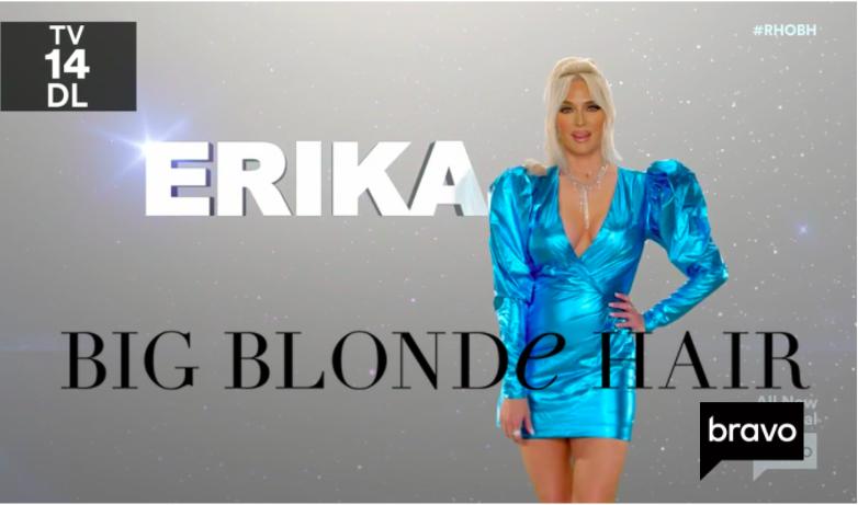 Erika Jayne Girardi's Blue Metallic Dress