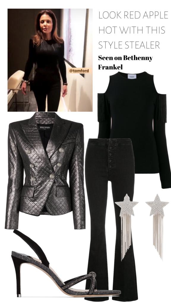 Bethenny Frankel's Black Fringe Sweater