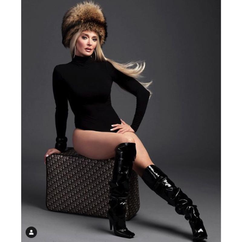 Erika Jayne Girardi's Black Bodysuit