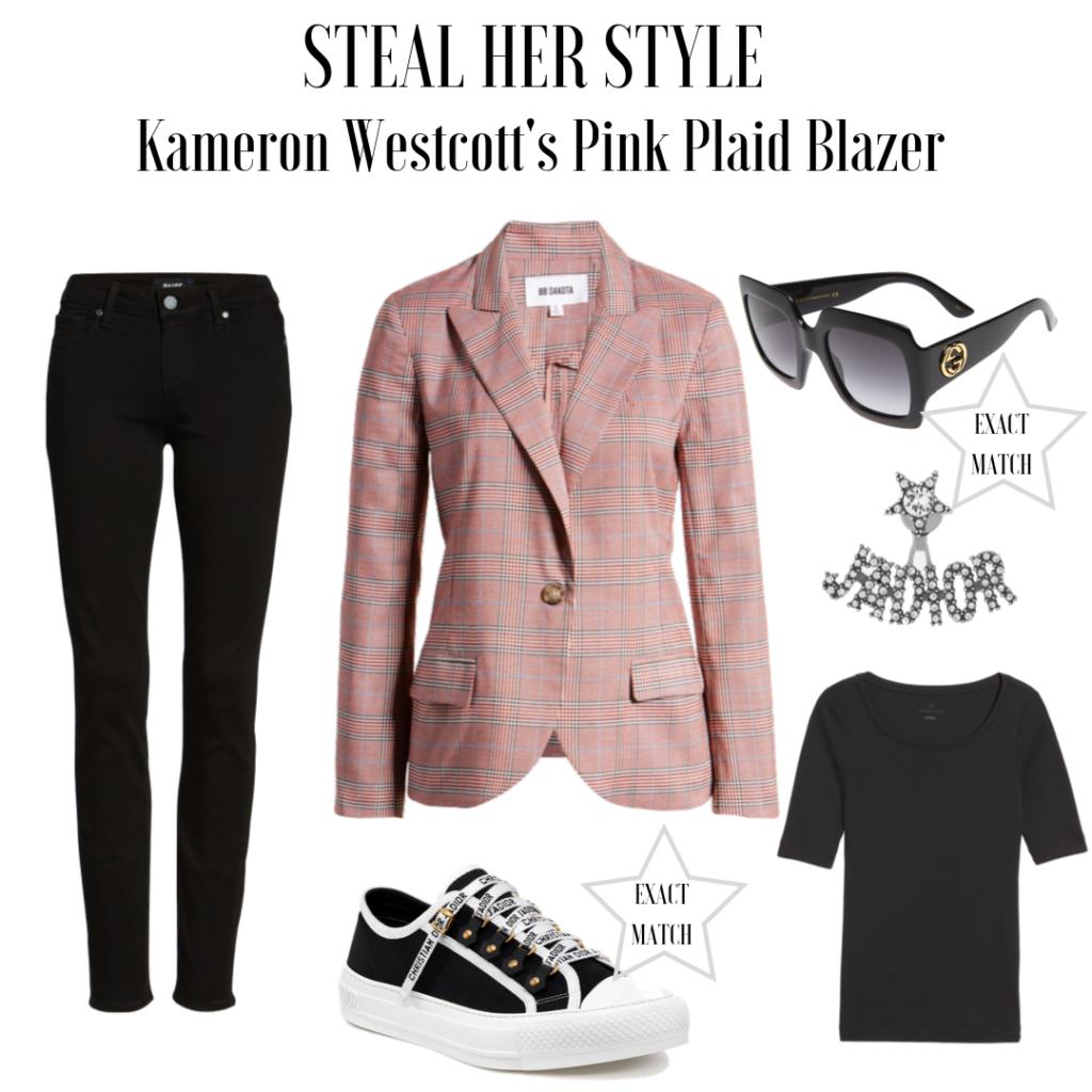 Kameron Westcott's Pink Plaid Blazer