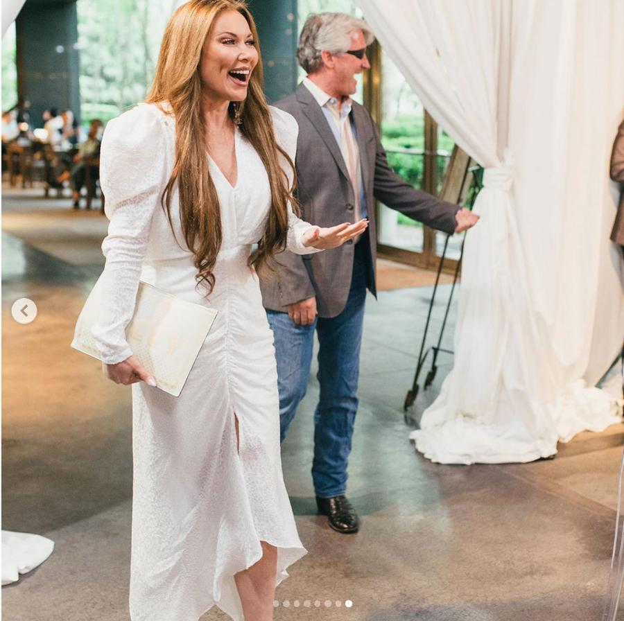 LeeAnne Locken's White Leopard Print Dress